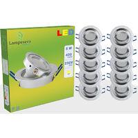 LOT DE 10 SPOT LED ENCASTRABLE ORIENTABLE 5W eq. 50W, BLANC FROID ref.64856000