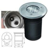 Lot de 10 Spot LED Exterieur Encastrable 7W GU10 Blanc froid