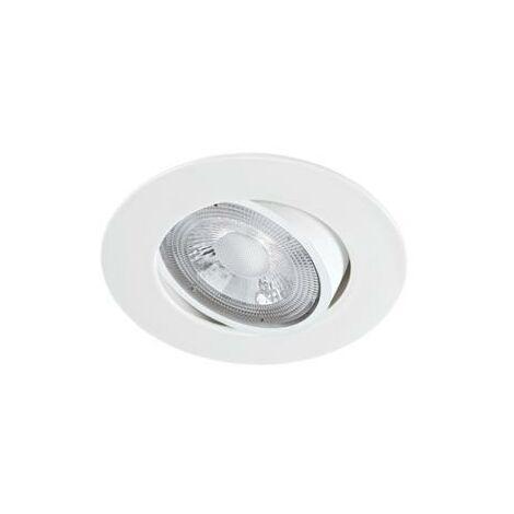 Lot de 10 Spot LED extra-plat Blanc ARIC 5.5W 40 230V Blanc Chaud