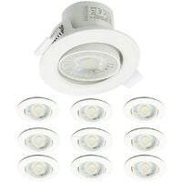 Lot de 10 Spots Encastrables Valence 9W Orientable Equ. 60W