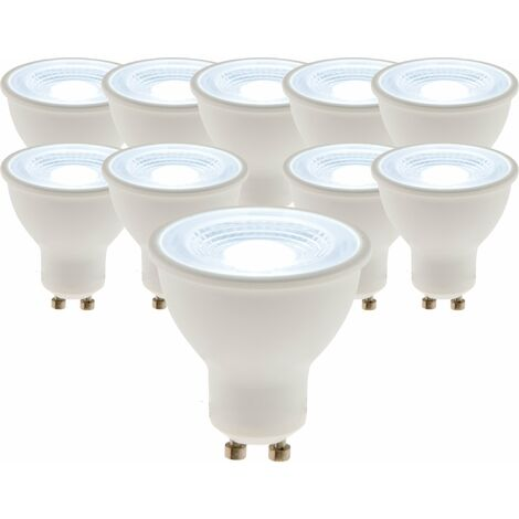 Lot de 10 spots LED 5W GU10 400lm 6500K