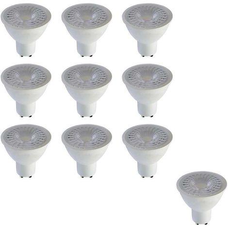 Lot de 10 Spots LED 7W GU10 A+ Blanc angle 110° Optonica Premium