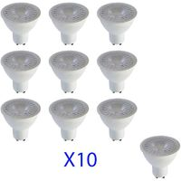 Lot de 10 Spots LED GU10 5W (eq. 40W) A+ 110° 320lm Premium