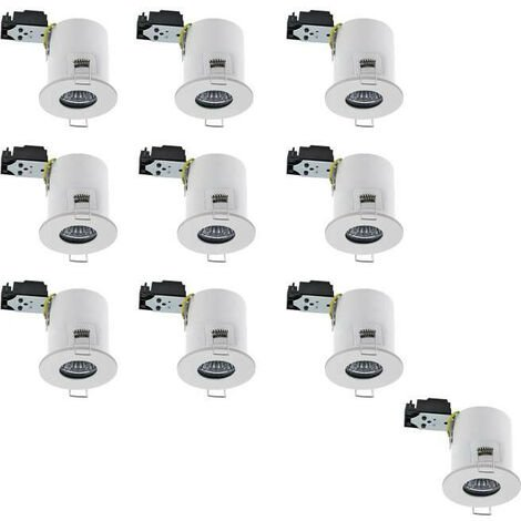 Lot de 10 Supports RT2012 étanche IP65 BBC fixe Blanc 68mm