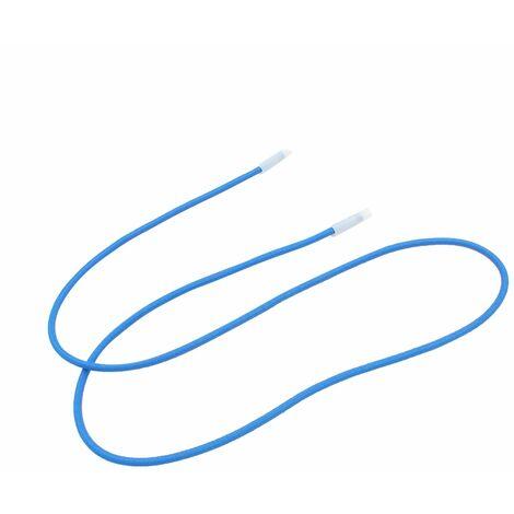 Lot de 10 tendeurs sandows Cabiclic avec embout basculant - 150 cm - Bleu - Linxor