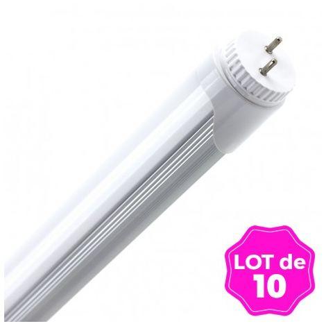 Lot de 10 Tubes Neon LED T8 18W 120cm Blanc Froid 6000k
