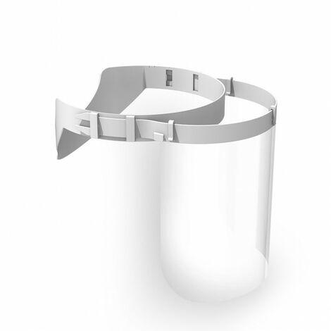 Lot de 10 Visières de protection - Fabrication française - Blanc