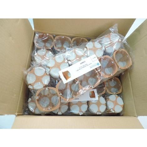 Lot de 100 boites d'encastrement BBC Ø 68mm prof 40mm cloison seche écologique norme R2012 SIB ADR P36840-100