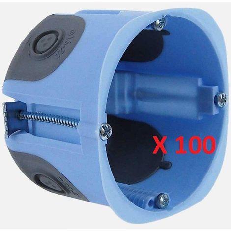 Lot de 100 Boîtes d'Encastrement XL AIR'Métic 52063-100 EUR'OHM Étanche Cloisons Sèches 67x50