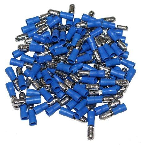 Voltman VOM514109 Bo/îte 10 cosses rondes section 6 mm pour fils de 1,5 /à 2,5 mm Bleu