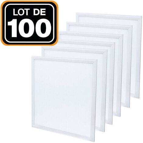 Lot de 100 Dalles Led 40W 60X60 PMMA Blanc froid 6000K Haute Luminosité
