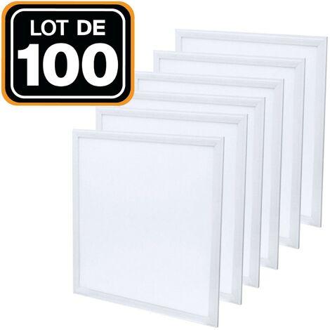 Lot de 100 Dalles Led 40W 60X60 PMMA Blanc froid 6000K Haute Luminosité
