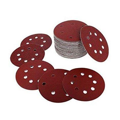 Lot de 100 disques abrasifs pour ponceuse excentrique 125 mm