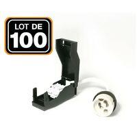 Lot de 100 Douilles GU10 Céramique Automatique 230V classe 2 - op0100