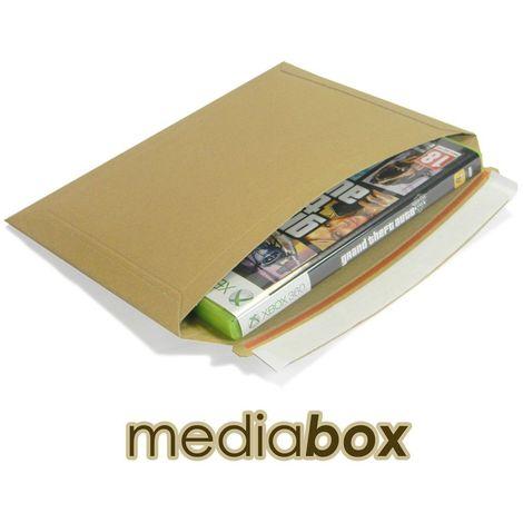 Lot de 100 enveloppes carton MEDIA-BOX pour 1 DVD / BLURAY