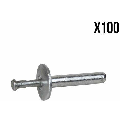 Lot de 100 Rivets de fixation en inox 4.8 x 25 mm - Linxor
