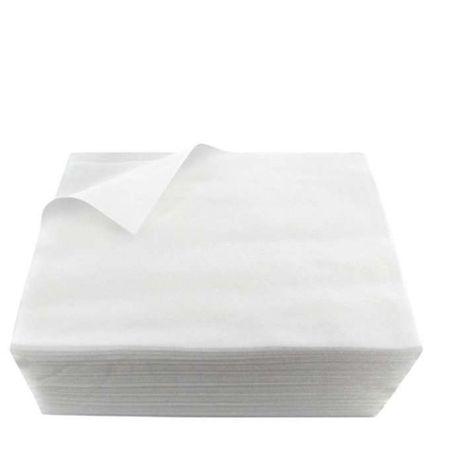 Lot de 100 serviettes en non tissé spunlace jetables - 40 x 50 cm - Vivezen