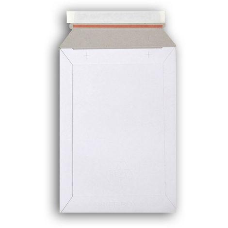 Lot de 1000 enveloppes carton B-Box 1 BLANC compatible Lettre Suivie / Lettre Max La Poste