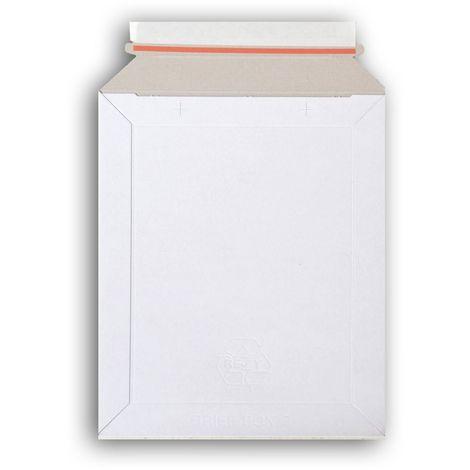 Lot de 1000 enveloppes carton B-Box 2 BLANC compatible Lettre Suivie / Lettre Max La Poste