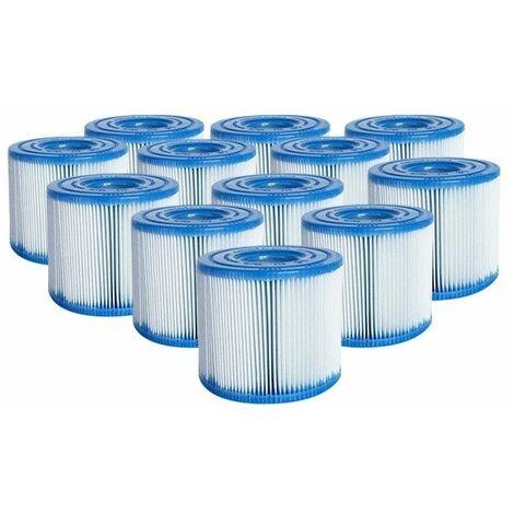 Lot de 12 cartouches de filtration type H - Pour piscine - Intex - Livraison gratuite