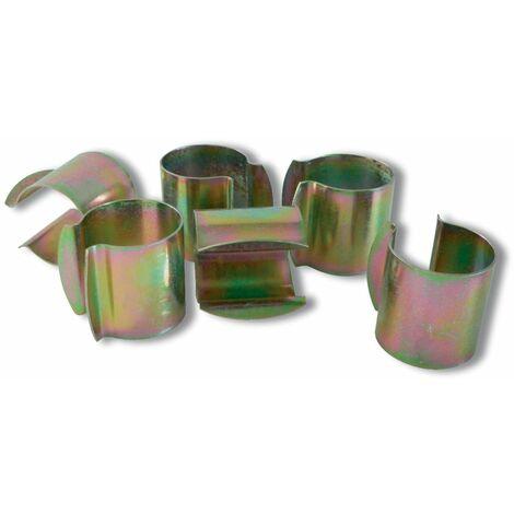 Lot de 12 clips de fixation pour serre - Diamètre 32 mm