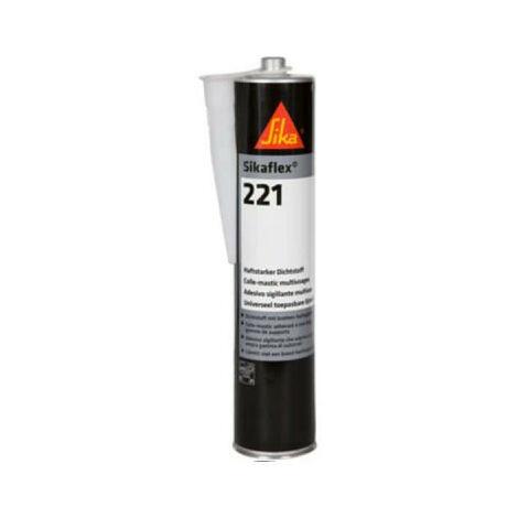 Lot de 12 colle mastic multi-usages SIKA Sikaflex 221 - Blanc - 300ml - Blanc