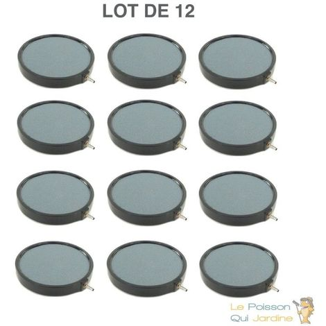 Lot de 12 diffuseurs d'air Disques 20 cm pour bassins de jardin