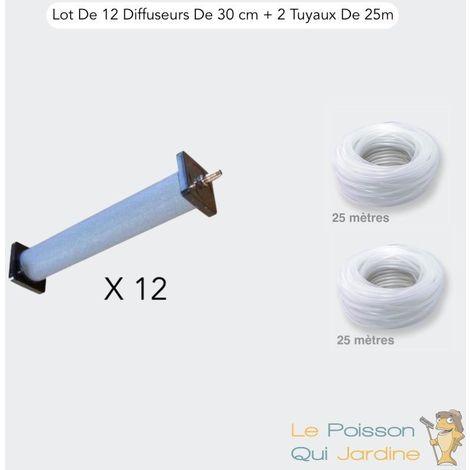 Lot De 12 Grands Diffuseurs, 30 cm + 2 Tuyaux De 25 m, Bassins.