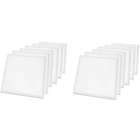 LOT DE 12 PAVES LED 600x600 - 45W - 3600 LUMENS - BLANC CHAUD - Blanc
