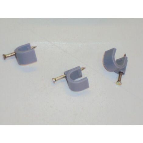 Lot de 15000 attaches pontet Ø 9mm grises à clouer pour fixation et maintien fil et cable FOREST 35009