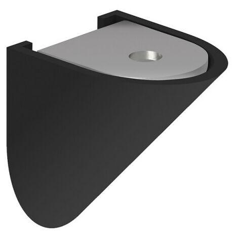 Lot de 16 taquets d'assemblage noir pour meuble ou placard - Noir