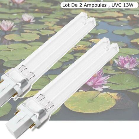 Lot De 2 Ampoules De Remplacement, UV 13W, Stérilisateur - Clarificateur Aquariums, Bassins