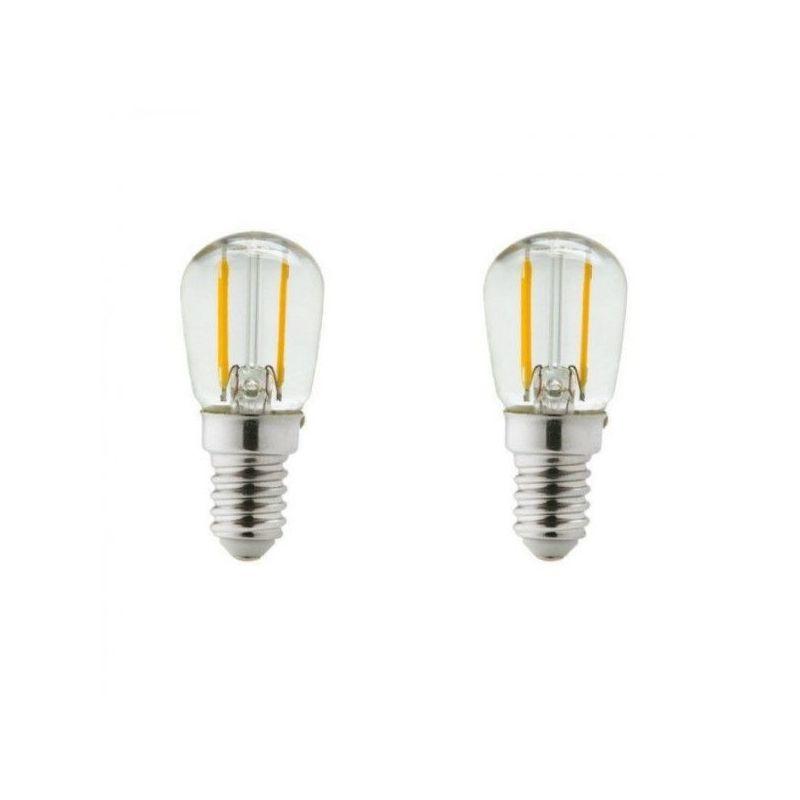 Lot De 2 Ampoules Led E14 1 Watt Eq 15 Watt Frigo Ou Hotte