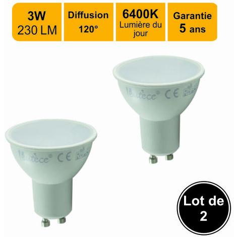 Lot de 2 ampoules LED GU103W (equiv. 30W) 230Lm 6400K