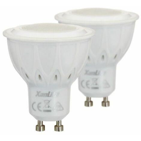 Lot de 2 ampoules LED spot - cuLot GU10 - lumière chaude - EDF -