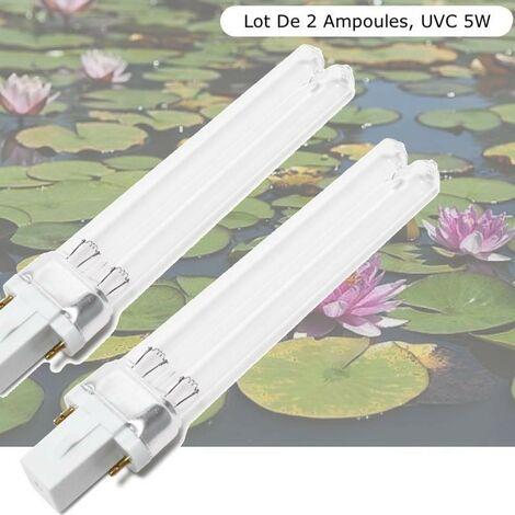 Lot De 2 Ampoules Stérilisateur - Clarificateur, UV 5W, Pour Aquarium Et Bassin