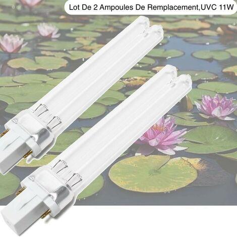 Lot de 2 ampoules UV Stérilisateur - Clarificateur 11W pour aquarium ou bassins de jardin