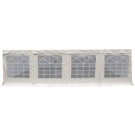 Lot de 2 bâches d'abri vitrée PVC 500g/m² multifonction panneaux 2m indépendant - Plusieurs longueurs