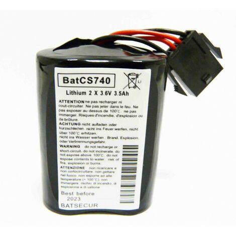 """main image of """"Lot de 2 batteries de sirène MCS 720B/740/ SR 720 / 740 - Alarme Visonic - Noir"""""""