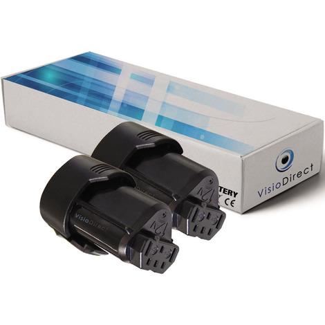 Lot de 2 batteries pour AEG BLL12C lampe 2000mAh 12V