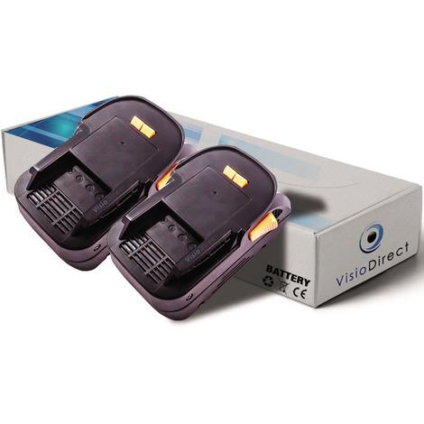 Lot de 2 batteries pour AEG BS18G perceuse visseuse 3000mAh 18V