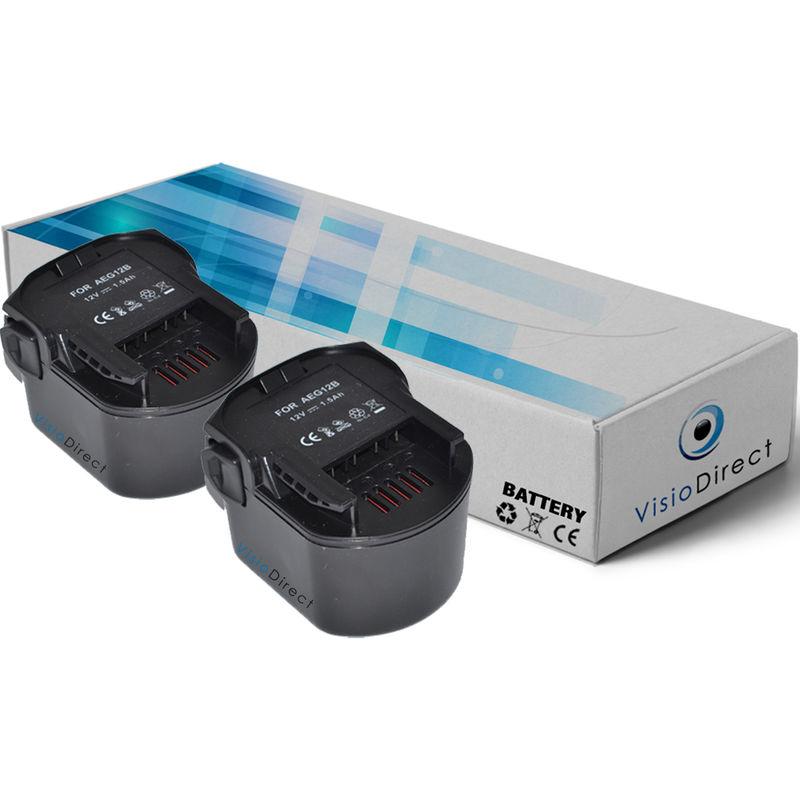 Lot de 2 batteries pour AEG BSS 12 RW visseuse angulaire à percussion 2000mAh 12V - Visiodirect -