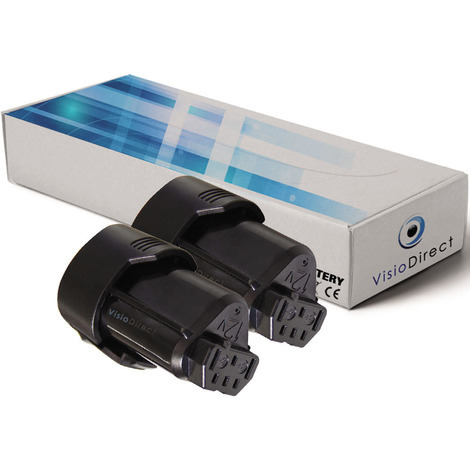 Lot de 2 batteries pour AEG BSS12C visseuse sans fil 2000mAh 12V