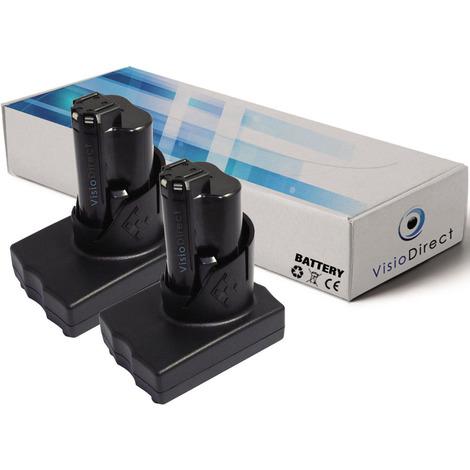 Lot de 2 batteries pour AEG Milwaukee 2411-22 marteau perforateur/visseuse 3000mAh 12V