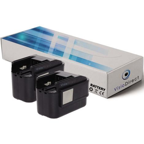 Lot de 2 batteries pour Atlas Copco PES 9.6T perceuse visseuse AEG Milwaukee 2000mAh 9.6V