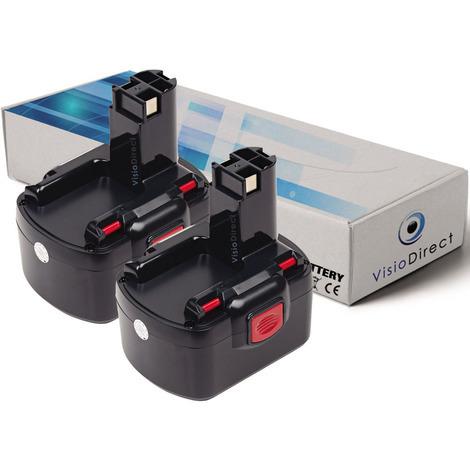 Lot de 2 batteries pour Bosch 22612 clé à chocs 3000mAh 12V