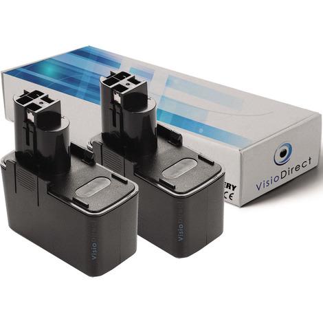 Lot de 2 batteries pour Bosch BABS-12V perceuse visseuse 3000mAh 12V