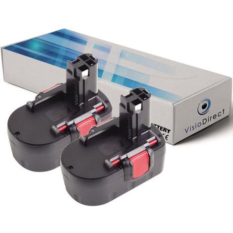 Lot de 2 batteries pour Bosch GSB 14.4V 2B perceuse à percussion 3000mAh 14.4V