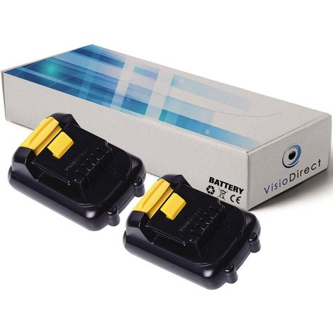 Lot de 2 batteries pour DEWALT DCL040 lampe torche 1500mAh 10.8V