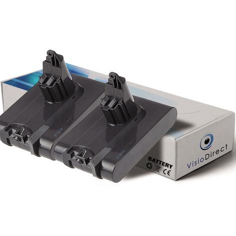 Lot de 2 batteries pour Dyson V6 Up Top aspirateur sans fil 1500mAh 22.2V
